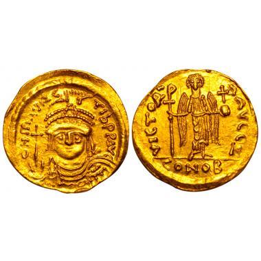 Маврикий Тиберий. Солид. 582-602