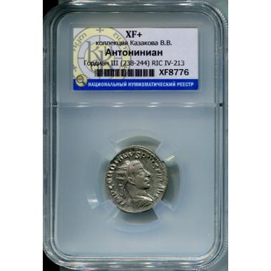 Гордиан III Антониниан в слабе ННР XF+