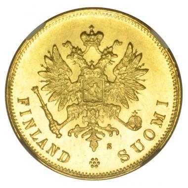 10 марок 1881 года MS 63