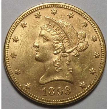 10 долларов США 1893 года