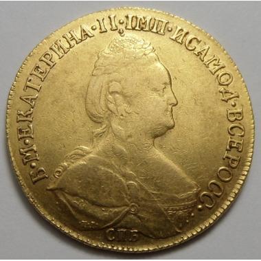 10 рублей 1783 года СПБ-ТI
